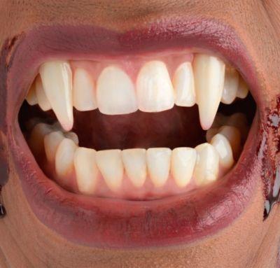 Retractable V&ire Fangs & Vampire Fangs u0026 Teeth - Monster u0026 Werewolf Teeth | Party City