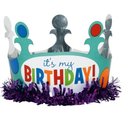 Happy Birthday Dots & Stripes Crown