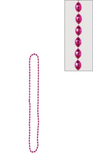 Metallic Pink Bead Necklace