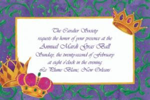 Custom Mardi Gras Crowns Invitations