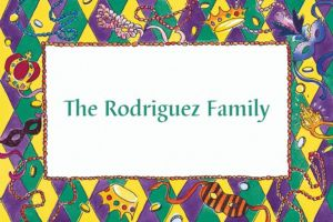 Custom Harelequin Border Mardi Gras Thank You Notes