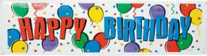 Balloon Party Happy Birthday Banner