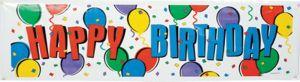 Balloon Party Happy Birthday Banner