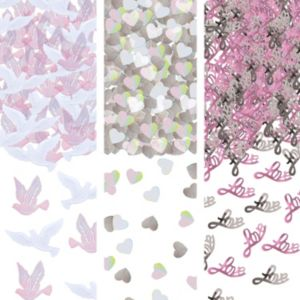 Iridescent Dove & Love Wedding Confetti