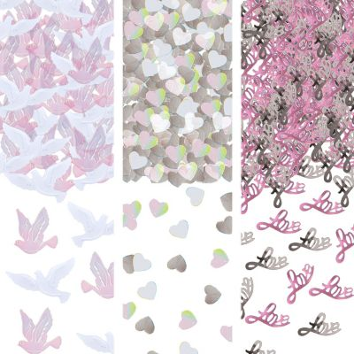 Wedding Dove Metallic Confetti 1/2oz