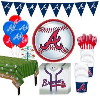 Atlanta Braves Super Party Kit for 16 Guests