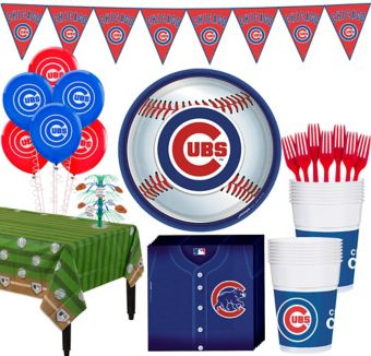 Chicago Cubs Super Party Kit for 16 Guests