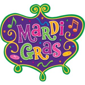 Medium Mardi Gras Cutout