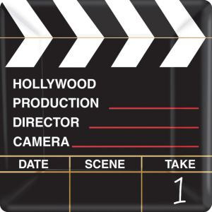 Clapboard Hollywood Dinner Plates 18ct