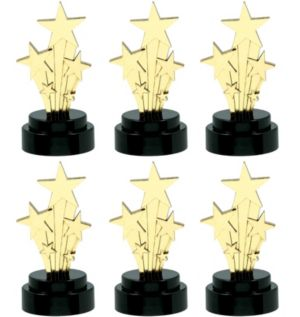 Hollywood Star Trophies 6ct