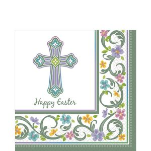 Happy Easter Blessed Day Lunch Napkin 36ct