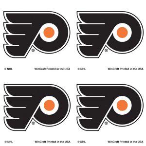 Philadelphia Flyers Face Tattoos 4ct