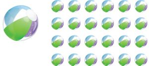 Multi Color Beach Balls 24ct