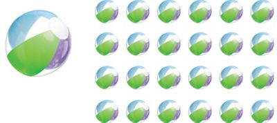 Multi Color Beach Balls 24ct