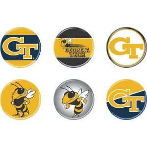 Georgia Tech Yellow Jackets Buttons 6ct