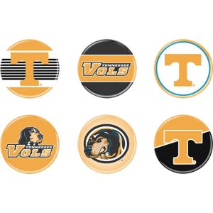 Tennessee Volunteers Buttons 6ct