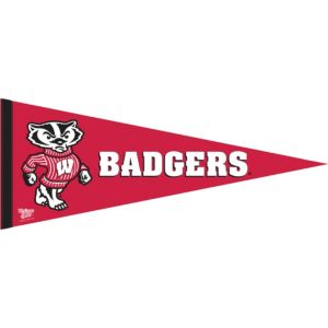 Wisconsin Badgers Pennant Flag
