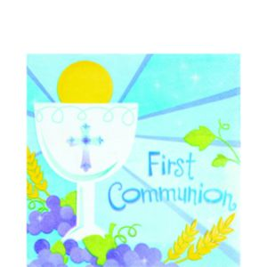 Boy's 1St Communion Lunch Napkins 36ct