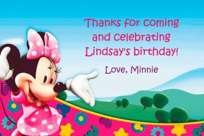 Custom Minnie Mouse Clubhouse Thank You Notes