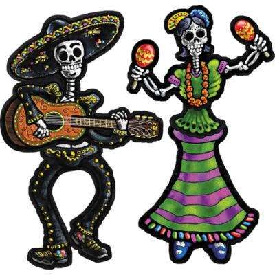 Day of the Dead Jointed Cutouts 2ct