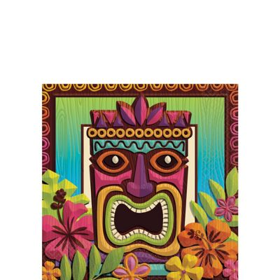 Tropical Tiki Beverage Napkins 125ct