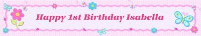 Hugs & Stitches Girl Custom Birthday Banner