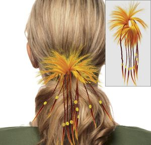 Fiesta Orange Diva Hair Twist with Braids