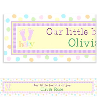 Custom Baby Steps Baby Shower Banner 6ft