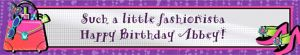 Custom Glitzy Girl Birthday Banner 6ft