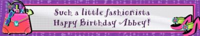 Glitzy Girl Custom Birthday Banner 6ft
