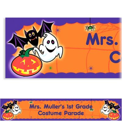 Custom Scared Silly Halloween Banner 6ft