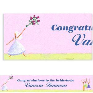 Custom Promise of Love Bridal Shower Banner 6ft
