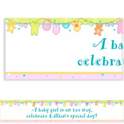Custom Cuddly Clothesline Baby Shower Banner 6ft