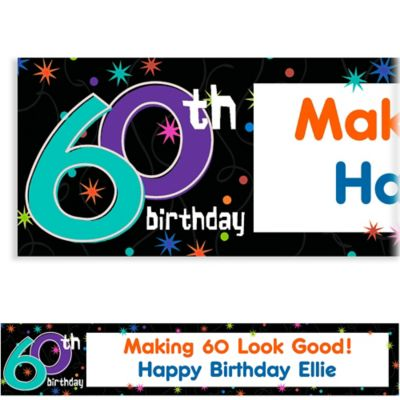 Custom The Party Continues 60th Birthday Banner 6ft