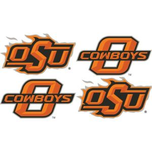 Oklahoma State Cowboys Face Decals 4ct