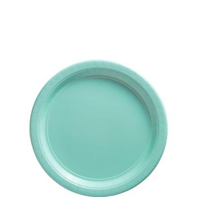 Robin's Egg Blue Paper Dessert Plates 20ct