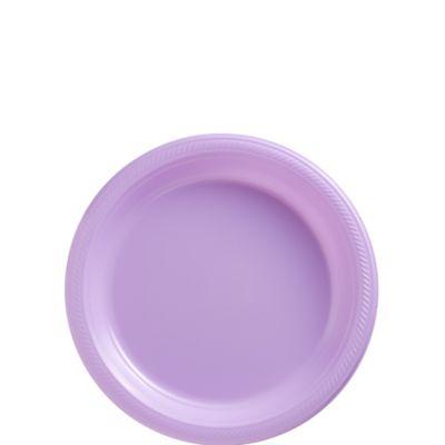 Lavender Plastic Dessert Plates 50ct