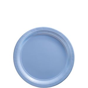 Big Party Pack Pastel Blue Paper Dessert Plates 50ct