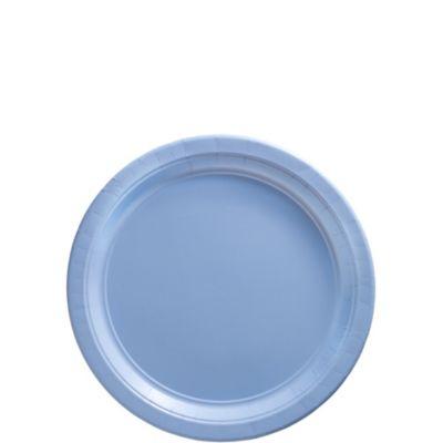 Pastel Blue Paper Dessert Plates 50ct