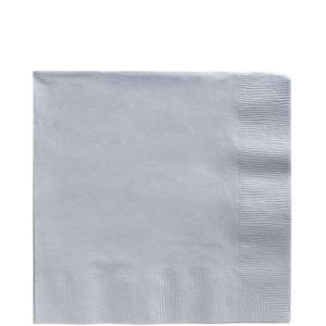 Big Party Pack Silver Lunch Napkins 125ct