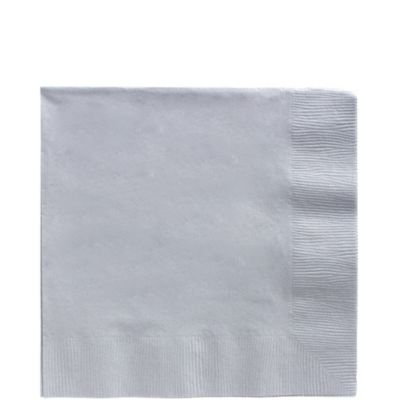 Silver Lunch Napkins 125ct