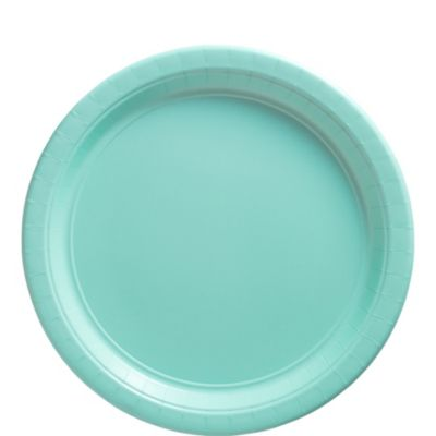 Robin's Egg Blue Paper Lunch Plates 50ct
