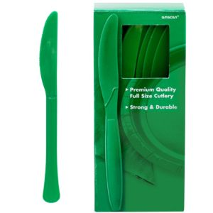 Big Party Pack Festive Green Premium Plastic Knives 100ct