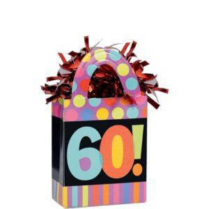 Year To Celebrate 60 Balloon Weight 5.7oz