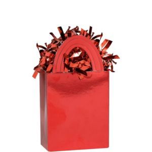 Red Mini Tote Balloon Weight 5.7oz
