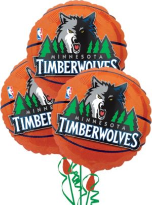 Minnesota Timberwolves Balloons 3ct - Basketball