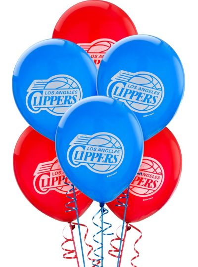 Los Angeles Clippers Latex Balloon 12in 6ct