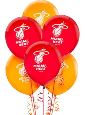 Miami Heat Balloons 6ct