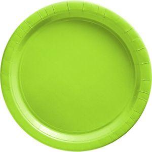 Kiwi Green Paper Dinner Plates 20ct