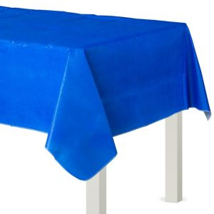 Royal Blue Flannel-Backed Vinyl Table Cover
